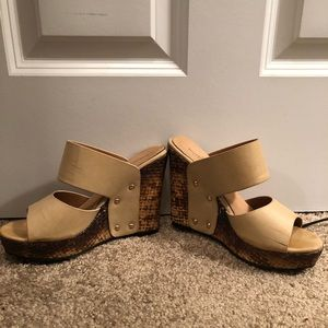 Shoes - FINAL PRICE Nude Wedge Heels